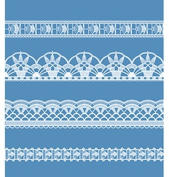 Abstract ribbon lace imitating crochet vector