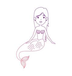 Beautiful mermaid character icon vector