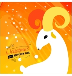 Christmas and New year card for 2015 year vector image vector image