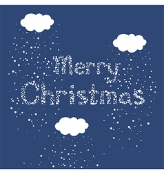 Christmas snow fall greeting card vector