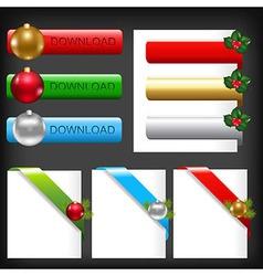 Christmas Web Elements vector image vector image