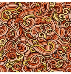 Decorative doodle abstract curly seamless pattern vector
