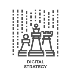 Digital strategy icon vector