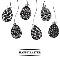 easter hang card vector image