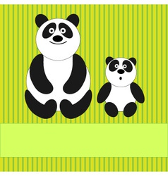 family of pandas vector image vector image