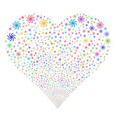 galaxy fireworks heart vector image