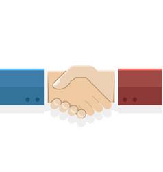 handshake partnership symbol businessman flat vector image