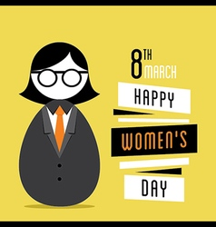 happy womens day design business women design vector image