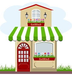 house and store vector image vector image