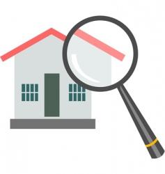 investigate property vector image