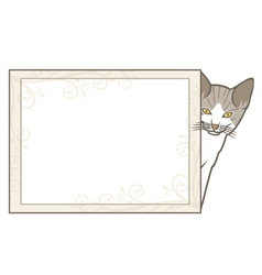 Little kitten with frame vector image