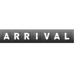 Mechanical Scoreboard Arrival Word vector image