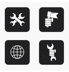 Modern labour day icons set vector