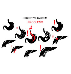 Problems of the digestive system vector