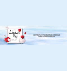 sales on valentines day holiday shopping discounts vector image vector image