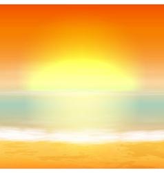 Sea sunset vector