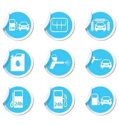 Set of 9 car service BLUE LABEL vector image vector image