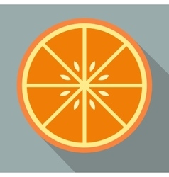 Sliced orange flat icon vector