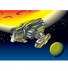 spacescape flying shuttle vector image vector image