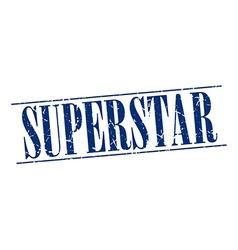 Superstar blue grunge vintage stamp isolated on vector