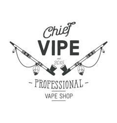 Vintage style Vape Shop emblem or logo vector image