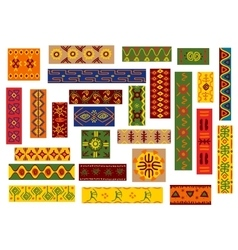 African ethnic ornaments and national patterns vector image