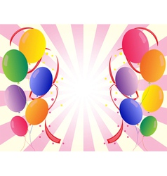 Party balloons in different colors vector