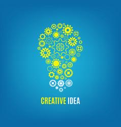 Innovation creative idea concept with vector