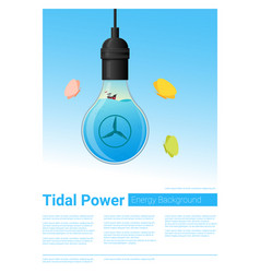 Energy concept background with tidal energy vector