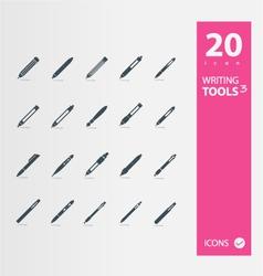 ball pen  pen  pencil icons vector image