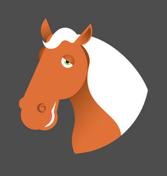 Red horse head muzzle hoss isolated on white vector