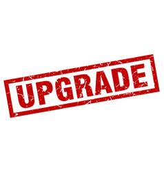 Square grunge red upgrade stamp vector