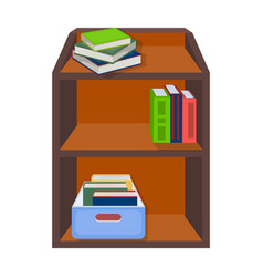 A rack with books and documents office furniture vector