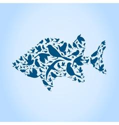 Fish a bird vector image