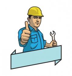 Handyman vector