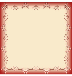Frame pattern red vector