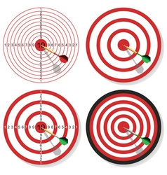 Target and dart vector