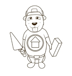 Beaver builder coloring book vector