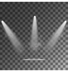Spotlights light effects vector
