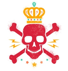 Skull blood red paint vector