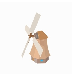 Windmill icon cartoon style vector image