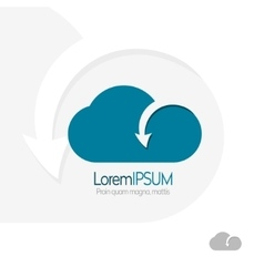Cloud with arrow template design data transfer vector