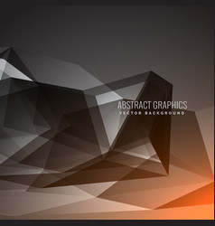 Black dark background with abstract shapes vector
