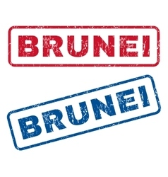 Brunei rubber stamps vector