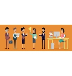 Business people characters vector