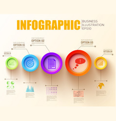 Business step infographic concept vector