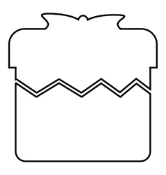 Christmas box icon outline style vector image vector image