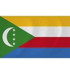 Comoros waving flag vector