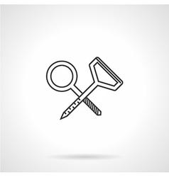 Contour icon for climbing hook vector