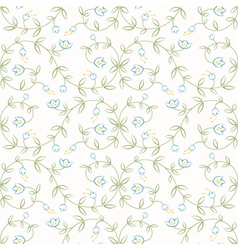 Easy flowers seamless vector